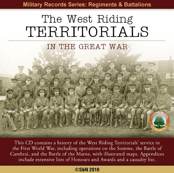 Yorkshire, The West Riding Territorials in the Great War