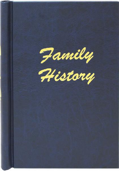 A4 Blue Leather Effect Family History Springback Binder + FREE Fold Out Chart