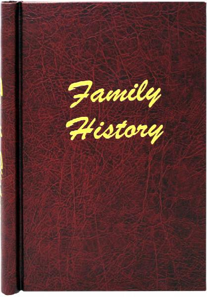 A4 Burgundy Leather Effect Family History Springback Binder
