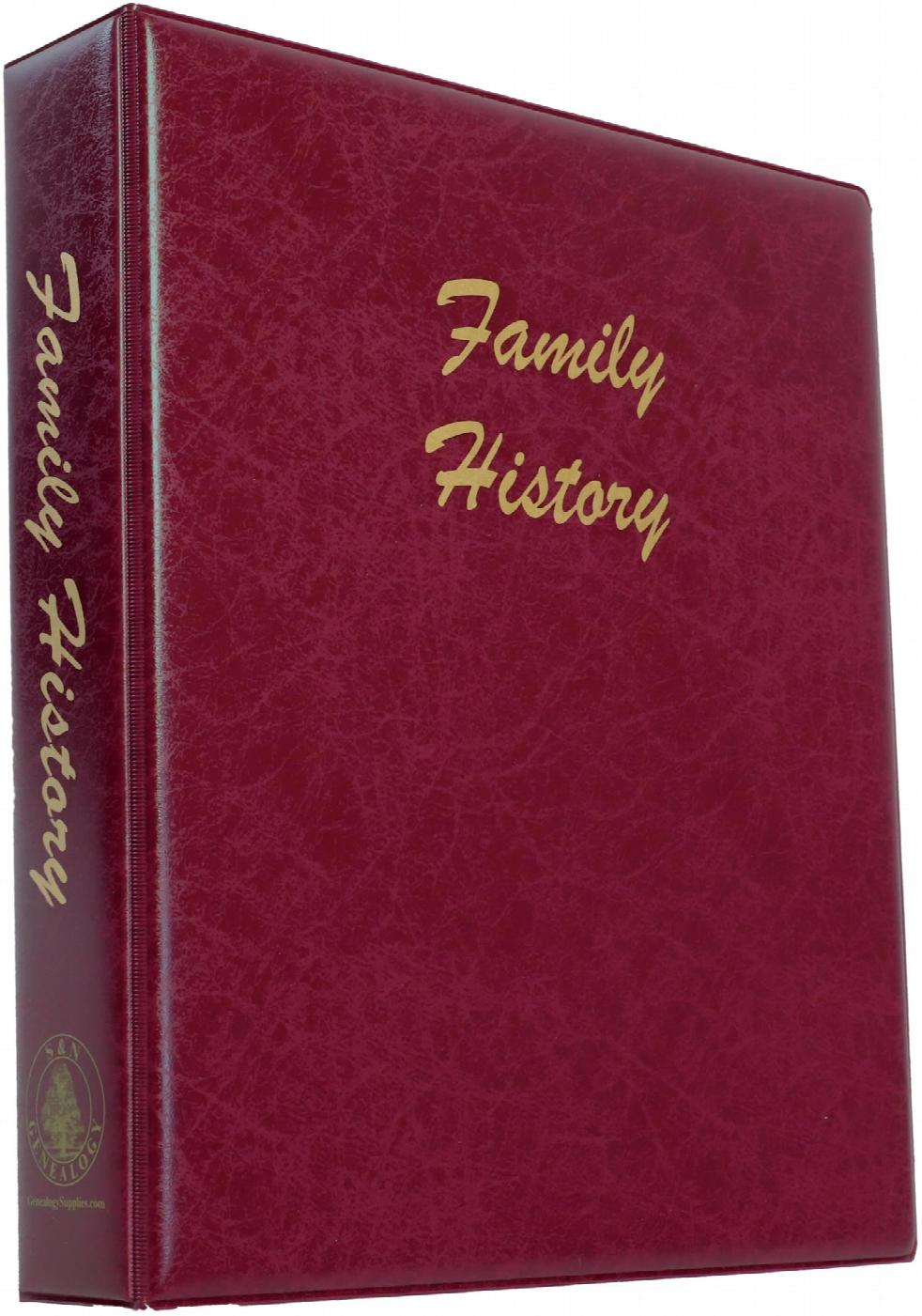A4 Luxury Burgundy Family History Binder