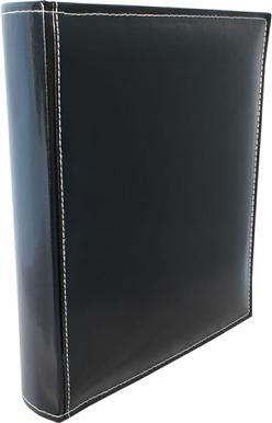 A4 Premium Leather Binder - Black