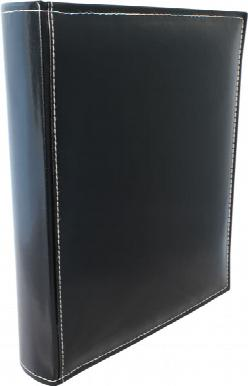 A4 Premium Leather Binder - Black
