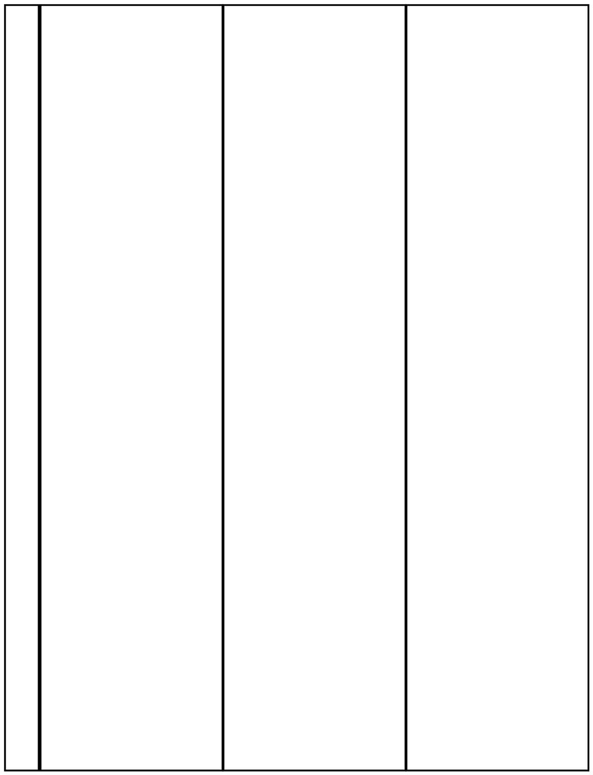 A4 Sleeves 3-Pocket (Vertical) - Pack of 10