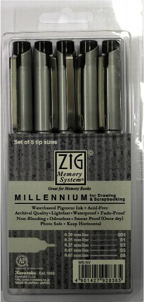 More info about Acid Free Writing Pen - Pack of 5 (Black)