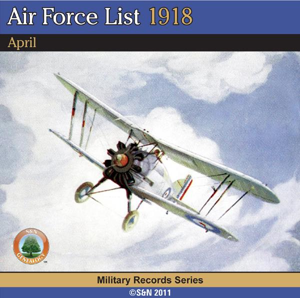 More info about Air Force List 1918  - April