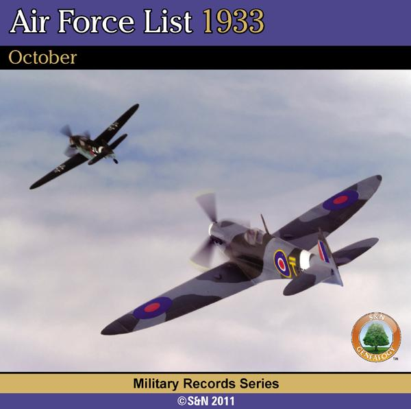 More info about Air Force List 1933 - October