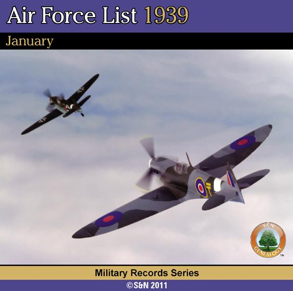 More info about Air Force List 1939 - January
