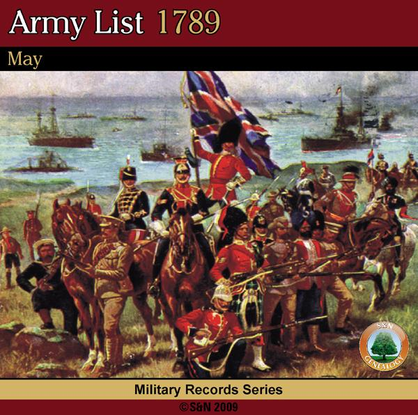 More info about Army List 1789 - May