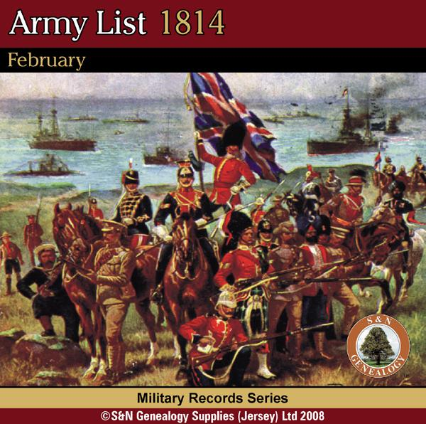 More info about Army List 1814 - February