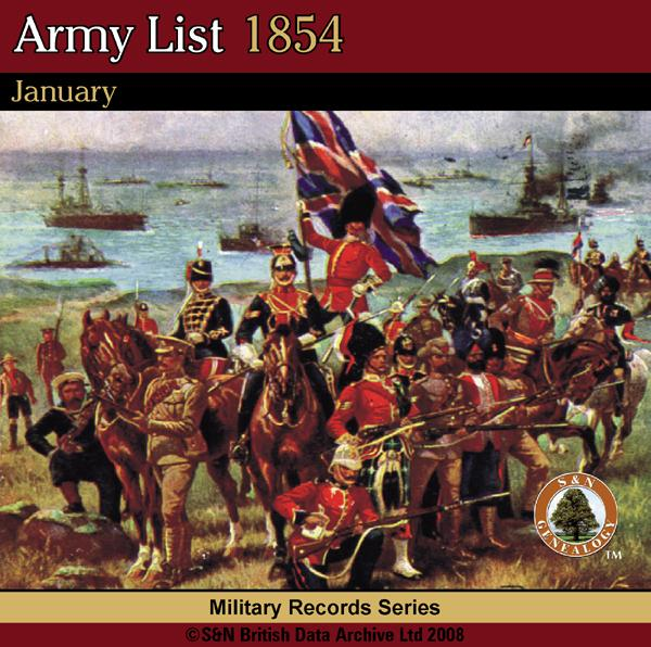 More info about Army List 1854 - January