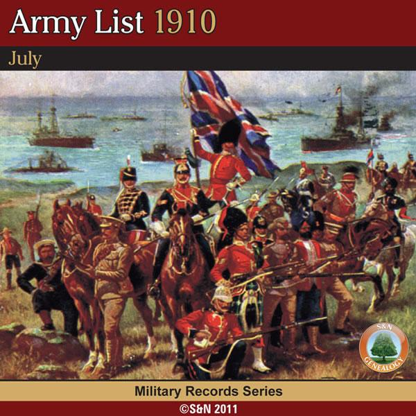 Army List 1910 - July