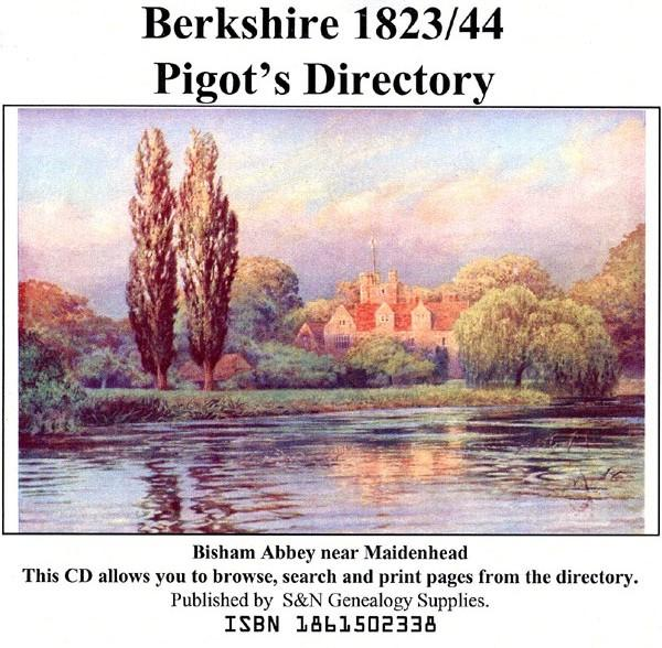 Berkshire 1823 and 1844 Pigot's Trade Directory-