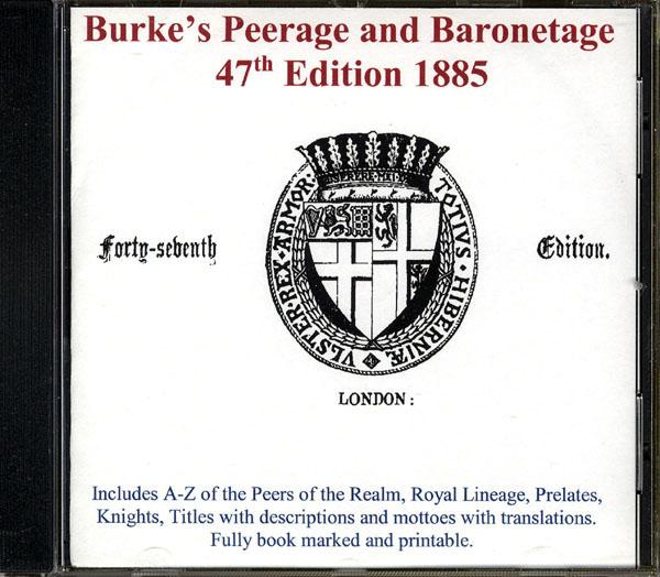 More info about Burke's Peerage and Baronetage 1885 (Membership Gift CD)