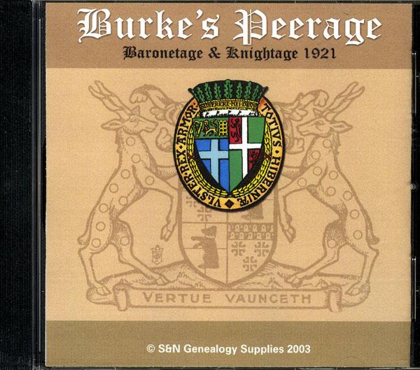 More info about Burke's Peerage and Baronetage 1921 (Membership Gift CD)