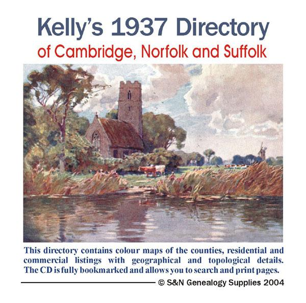 More info about Cambridgeshire, Norfolk and Suffolk 1937 Kelly's Directory