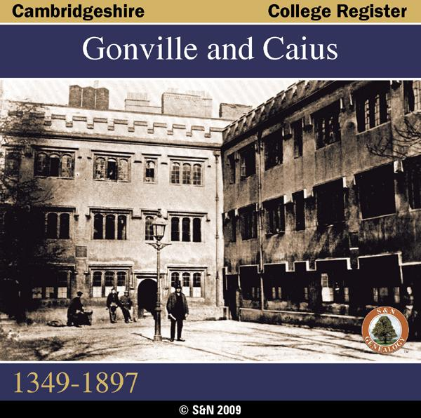 More info about Cambridgeshire, Gonville and Caius College Register 1349-1897