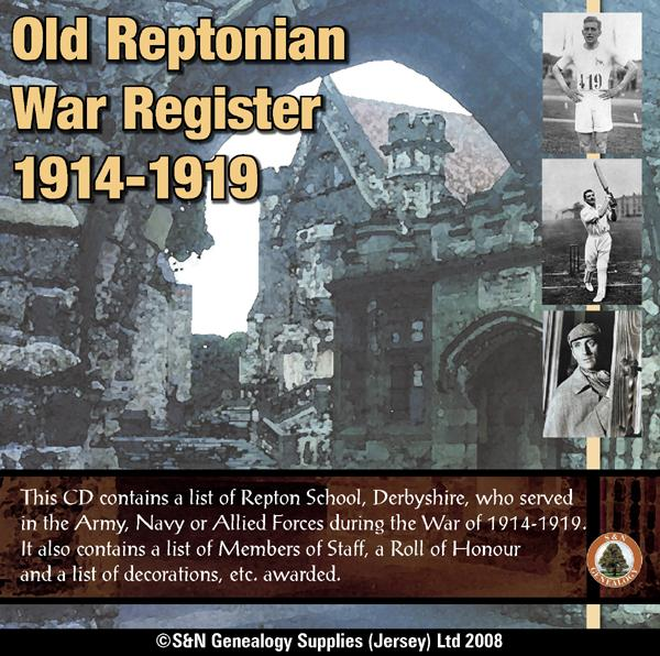 More info about Derbyshire, Old Reptonian War Registers 1914-1919