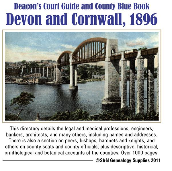 More info about Devon and Cornwall, Deacon's Court Guide and County Blue Book 1896