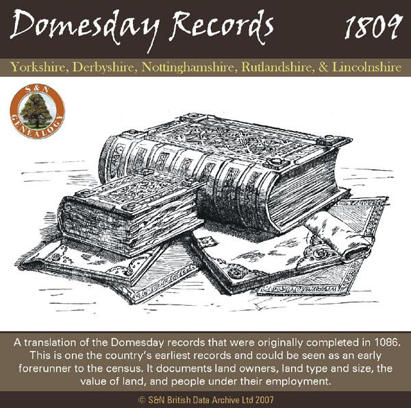 Domesday Records for Yorks, Derbyshire, Notts, Rutland & Lincs 1086