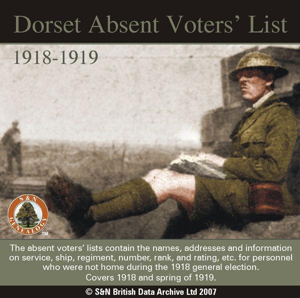 More info about Dorset Absent Voters' List 1918-1919