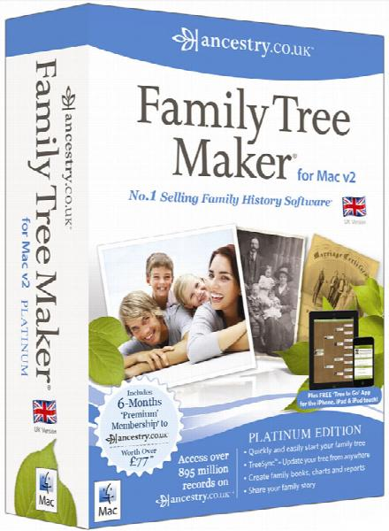 More info about Family Tree Maker UK Platinum for Mac 2 + Free Find Your Ancestors book