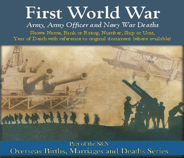 More info about First World War Deaths - Army, Army Officer and Navy War Deaths