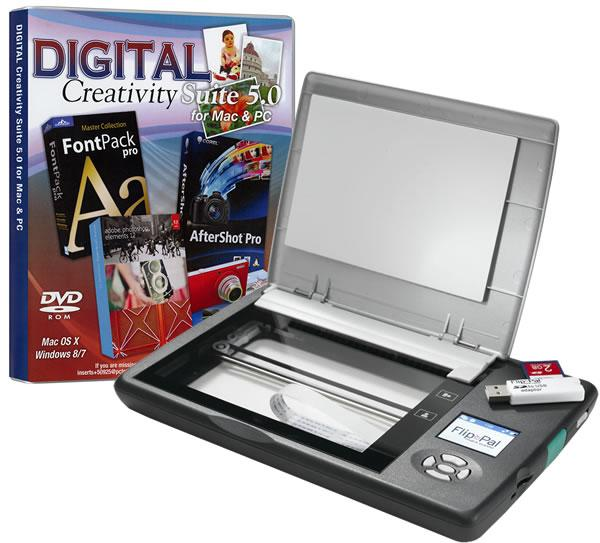 Flip-Pal Mobile Scanner with Digital Creativity Suite 3.0 DVD  (Heavy Item)