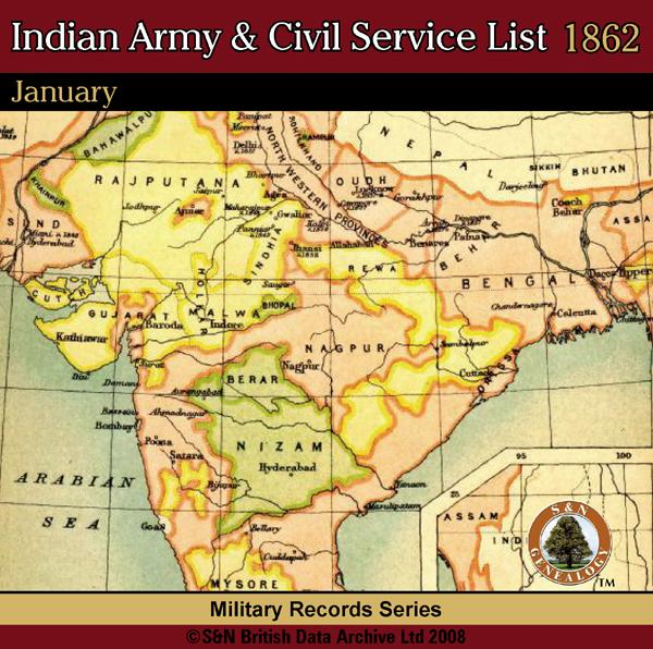More info about Indian Army & Civil Service List 1862 - January