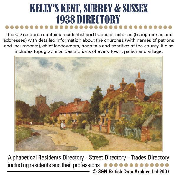 Kent, Surrey & Sussex Kelly's 1938 Directory