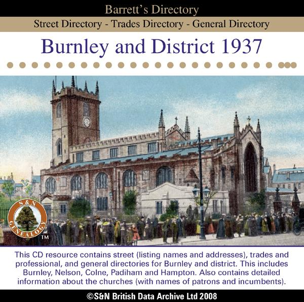 More info about Lancashire, Burnley 1937 Barrett's Directory