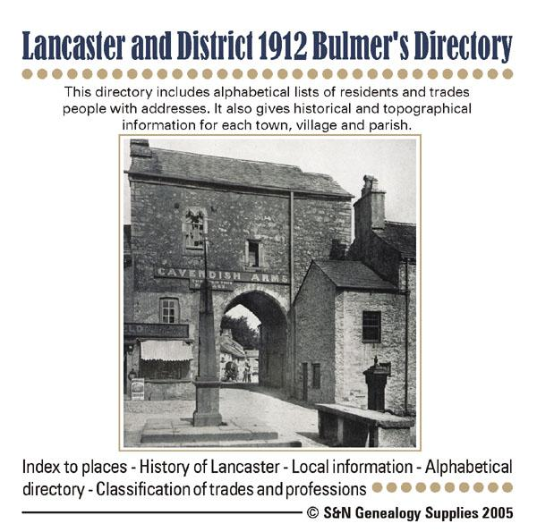 More info about Lancashire; Lancaster and District 1912 Bulmer's Directory