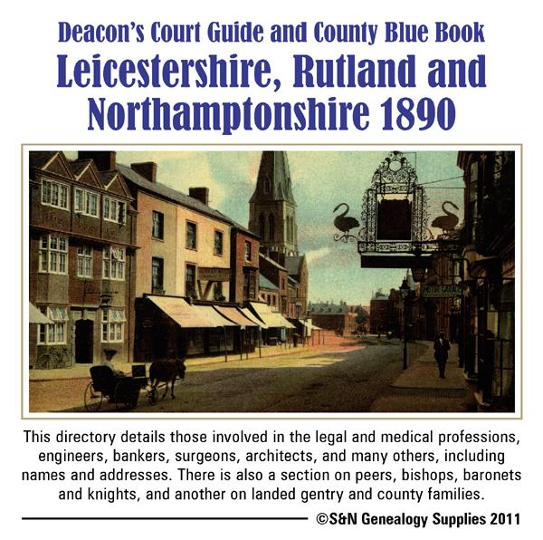 More info about Leicestershire, Rutland & Northamptonshire Deacon's 1890 County Blue Book