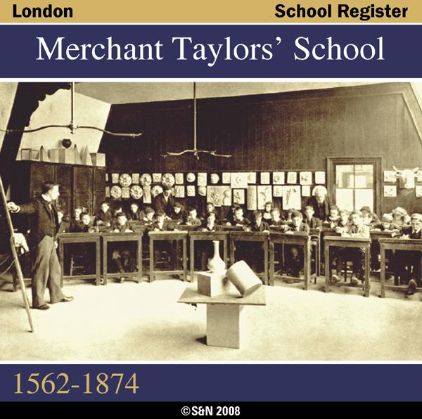 More info about London, Merchant Taylors' School Register 1562-1874
