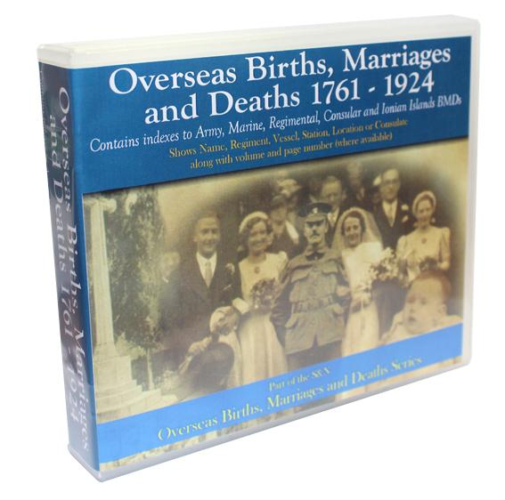Overseas Births, Marriages and Deaths 1761-1924