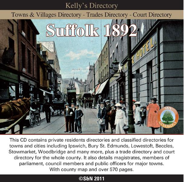 More info about Suffolk 1892 Kelly's Directory