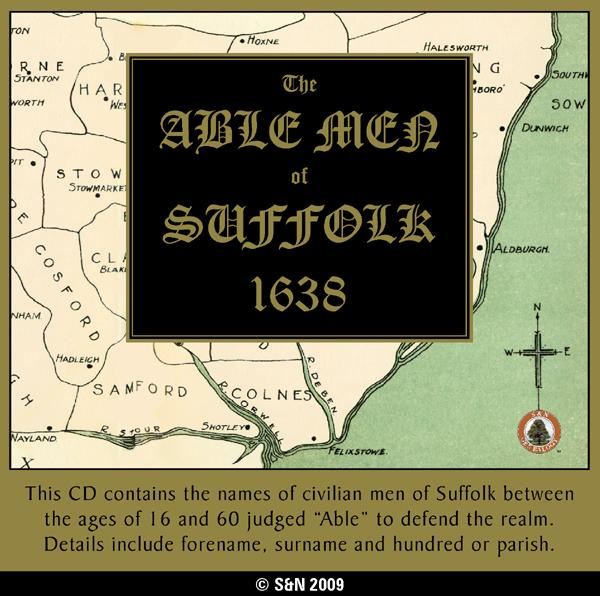 Suffolk, Able Men of Suffolk 1638