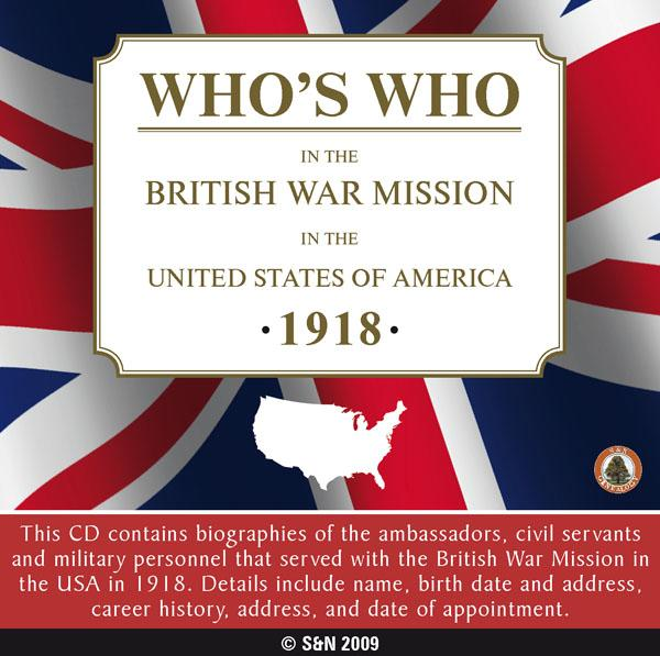 More info about Who's Who in the British War Mission in the United States of America - 1918
