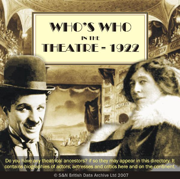 Who's Who in the Theatre - 1922