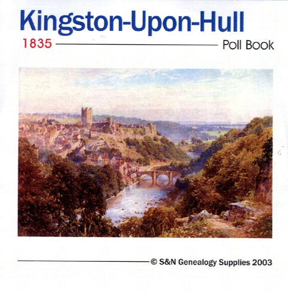 Yorkshire, Kingston-upon-Hull 1835 Poll Book