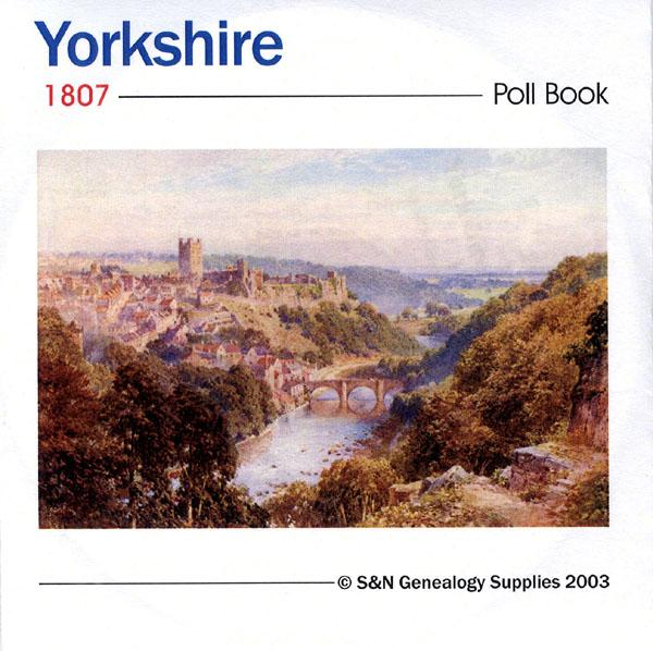 Yorkshire, York (County) 1807 Poll Book