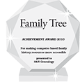 S&N receives the Family Tree Magazine Achievement Award