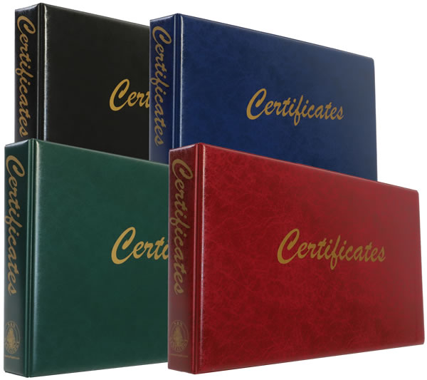 Long Certificate Binders