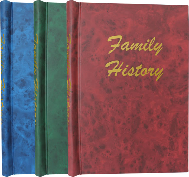 Deluxe Family History Springback Binders