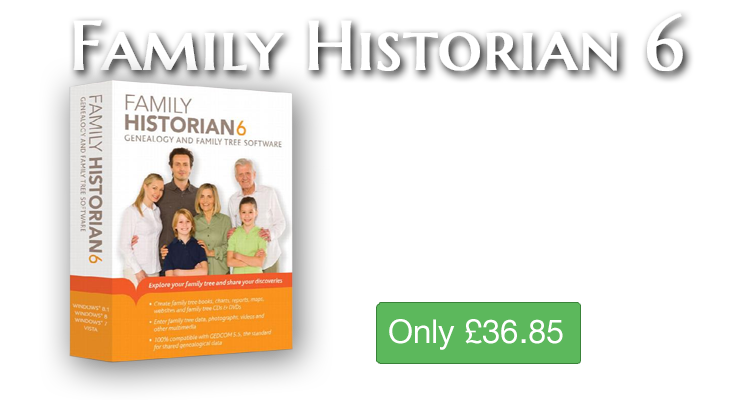 Family Historian 6 with Free Upgrade to Version 7