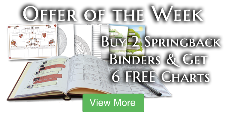 Buy 2 Springback Binders and get 6 Fold-Out Charts FREE