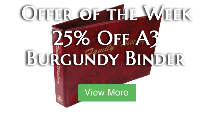 Save 25% on our A3 Burgundy Binder