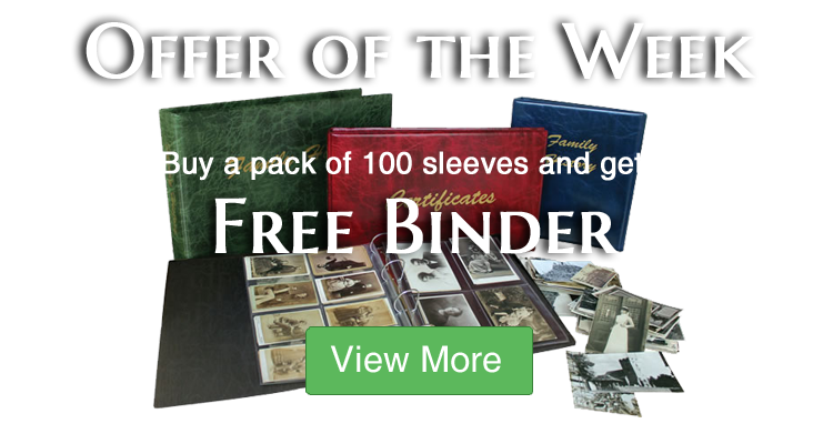 Buy a pack of 100 Sleeves and get a FREE binder!