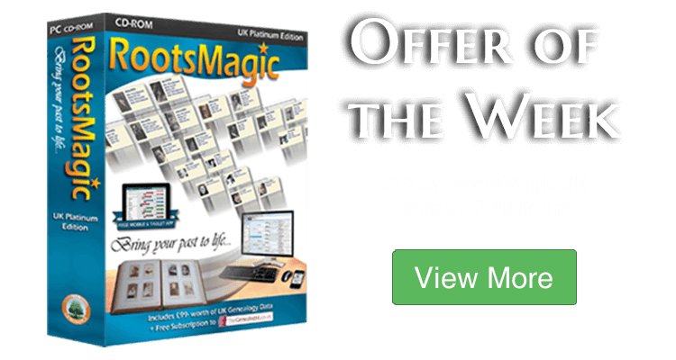 Save £10 on RootsMagic UK Version 7 Platinum Edition