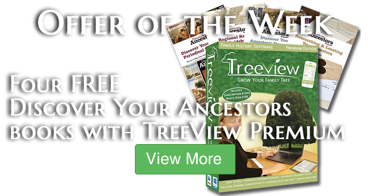 Get 4 FREE Discover Your Ancestors Books when you purchase TreeView 2 Premium Edition