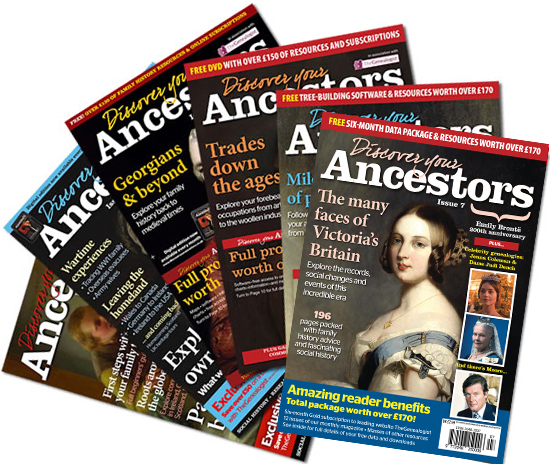Discover Your Ancestors Back Issues
